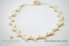 Perlenkette von Danielle Avilla - Häkel mit brasilianischen Stil auf DaWanda.com
