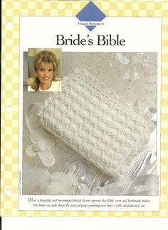 Crochet  Pattern Bride's Bible Cover and White by AliCraftPatterns, $2.00