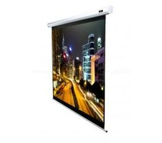 Elite Screens 90 in. Electric Projection Screen with White Case - Garden Projects Outside Projector, Ceiling Projector, Phone Projector, Home Theater Setup, Home Theater Speakers, Home Theater Seating, Screen Material, Projection Screen
