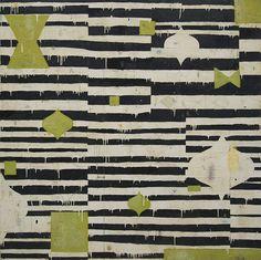 """Nicholas Wilton // """"Lime Safari 2"""" 2014, Technique mixte sur panneau 152,4 x 152,4 cm"""