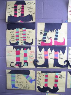 Learning to make french adjectives agree with their noun - ack! This teacher found a fun way to practice this concept with her students. Halloween Arts And Crafts, Halloween Activities, Halloween Kids, French Classroom, Art Classroom, Classroom Themes, French Adjectives, French Verbs, French Teacher