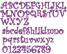 free embroidery fonts   Machine Embroidery Downloads: Designs & Digitizing Services from ...