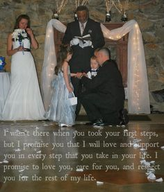 blended family wedding - Google Search                                                                                                                                                     More