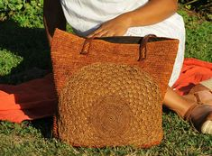 Raffia bag piñata bag French market bag straw bag boho