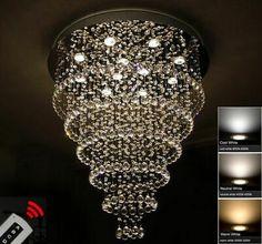 Pinterest Bulb, Chandelier, Ceiling Lights, Led, Crystals, Lighting, Modern, Color, Ebay