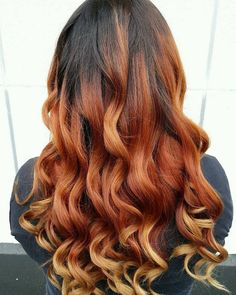 Warm haired ombre at Oliver Finley Academy of Cosmetology