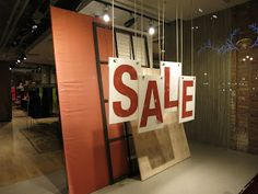 Esprit | Sale window - Hanging Sign