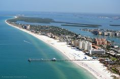 Pier 60 and the north end of Clearwater Beach