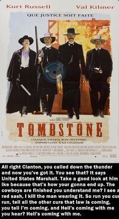 Tombstone Movie Quotes   30 Most Bad-Ass Action Movie Quotes of All Time   Full Punch