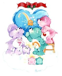 Care Bears: Christmas Shooting Star with Share, Love-a-Lot & Wish Bear