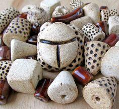"""Купить Подвеска для украшений """"скарабей"""" - бежевый, коричневый, Керамика, керамические украшения, шамот, для украшений, этника"""