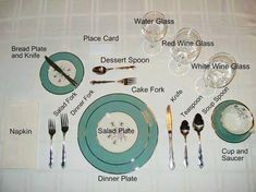 The proper way of setting a formal table.