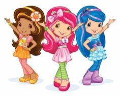 Characters with headbands...Orange Blossom, Strawberry Shortcake, and Blueberry Muffin