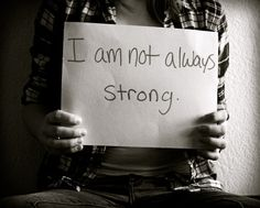 Not always strong.