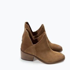 ZARA - SHOES & BAGS - FLAT HIDE ANKLE BOOT
