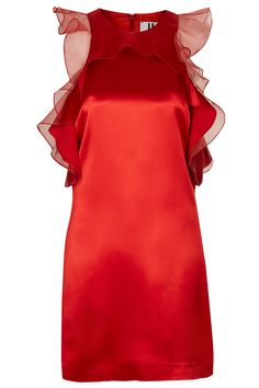 This ruffled, silk dress isn't a far cry from the short Delpozo number Julianne Moore wore at the Palm Springs International Film Festival. We're rooting for red-carpet red for this Best Actress-nominated redhead.