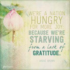 Thank you, Brené! #gratitude