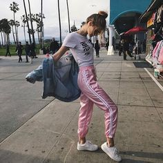 Baby pink silk joggers. Available in small and medium. Last photo is @bbyg6rl on insta! This item is unbranded. -- Items ships from either China or Taiwan as I am an east oriented college student in my second year. All items are hand picked from independent shops I work with. My location is set in the US for convenient finding of products. I ship worldwide for $5. Items take 2-4 weeks to arrive -- Tags: silky satin sweatpants sweat pants trousers athletic y2k sexy urban outfitters brandy…