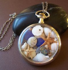 Wallis Sands Ocean Locket Vintage Pocket by StoneStreetStudio