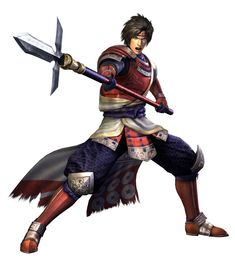 View an image titled 'Sanada Yukimura Art' in our Samurai Warriors 3 art gallery featuring official character designs, concept art, and promo pictures. Great Warriors, Warriors Game, Dynasty Warriors, Game Character Design, Character Concept, Character Art, Concept Art, Character Ideas, Sengoku Musou
