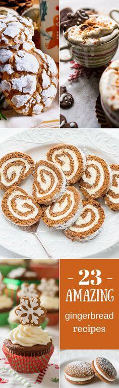 23 Amazing Gingerbread Recipes from a few amazing bloggers | www.savingdessert.com