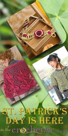 celebrate St Paddy's Day with Irish Crochet!