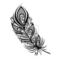 niezrownany-uzytkowa-feather-wektorowa-deseniem-tatuaz.jpg (400×400)