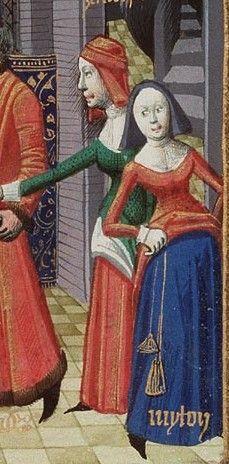 15th century purse worn  tied around waist