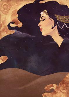 1001 Arabian Nights illustration for BYU's 2011-12 Theater Season