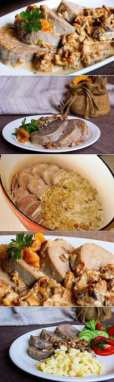 Горячий деликатес: язык в грибном соусе - Вкусные рецепты