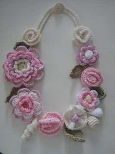Beautiful crochet necklace