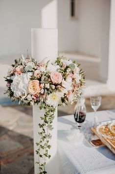 Wedding Bouquets, Wedding Cakes, Wedding Flowers, Baptism Candle, Greek Wedding, Romantic Weddings, Happy Day, Got Married, Crafts
