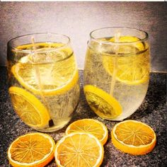 Water with Lemon Gel Candles