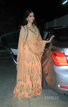 Sonam Kapoor at music launch of 'Dolly Ki Doli'. The color is very decent