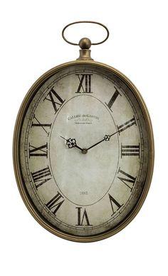 "IMAX Home 27476 Toledo 20.5"" x 12.75"" Wall Clock Home Decor Clocks Wall Clocks"