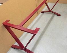 diseo mesa de comedor patas piernas industrial de tres barras conjunto de patas de acero mesa de comedor robusto y comedores