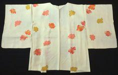 Japanese Vintage Kimono Haori Silk Silky Light Yellow Flower P012332 | eBay
