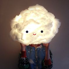Fluffy Cloud Lamp Tutorial! Make our dreamy lamp with this step-by-step tutorial.