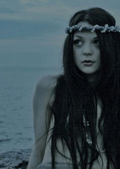 Kathryn Prescott being a mermaid