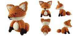 """Welcome back to Free Pattern Friday! This week's item is a 6"""" tall fox amigurumi. You can download the PDF pattern for free on Rav..."""