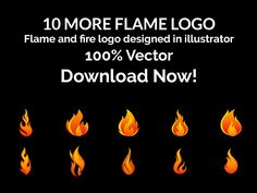 Flame and Fire – Vector Logo – Set 2 - https://free4all.screnter.com/flame-and-fire-vector-logo-set-2/