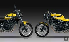 Just make these 2016 SV650 customs already Suzuki!   Oberdan Bezzi's 'Yellow Weapon' custom 2016 SV650 designs are the bikes youdidn't know you wanted until now. We regularly take a stop every couple of weeks or soat Mr Bezzi's website. He's a prolific designer of different motorcycling ideas and always has us ...  See http://mofi.re/27UW06Q for more.  #Bezzi, #CafeRacer, #Custom, #Scrambler, #Suzuki