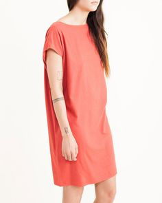 Mini Sack Dress in Berry By Jesse Kamm