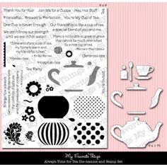 MFT die-namics My Favorite Things stamps & dies tea pot cup teapot teacup