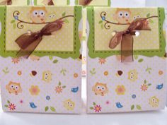 12 Owl favour bags  birthday party/baby by SparkleandComfort