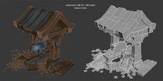 mini lumber mill, Antonio Neves on ArtStation at https://www.artstation.com/artwork/rzKbO