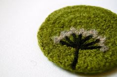 Felted Coasters | adknits