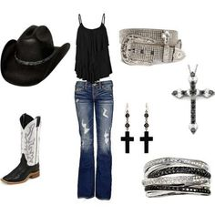 cute country look! Mode Country, Country Look, Estilo Country, Country Girl Style, Country Fashion, Country Girls, My Style, Country Chic, Cowgirl Style