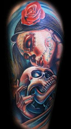 Life and death personified in this cool piece by Mario Hartmann #InkedMagazine