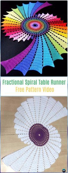 ideas for crochet table runner free pattern diagram Crochet Table Mat, Crochet Table Runner Pattern, Crochet Placemats, Spiral Crochet Pattern, Free Crochet Doily Patterns, Crochet Doilies, Doily Rug, Thread Crochet, Diy Crochet
